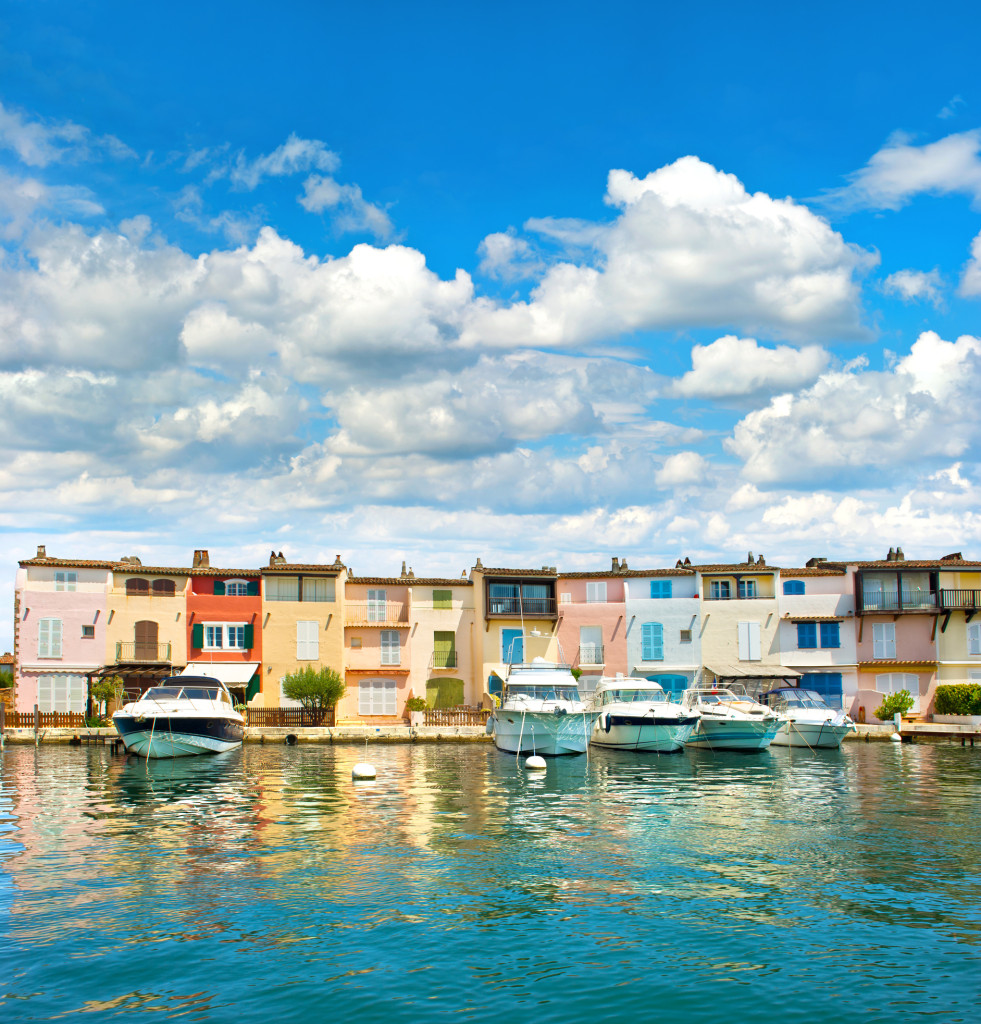 Colorful houses in Port Grimaud in Provence