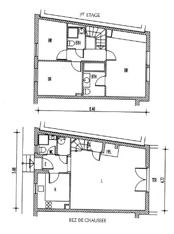 Another floorplan of Portale House in Port Grimaud