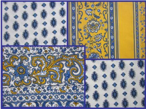 Samples of provençal fabric