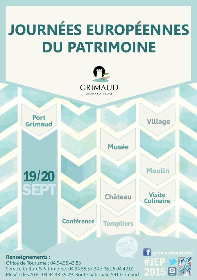 Journées du Patrimoine 2015  à Grimaud