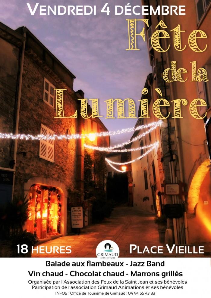 4 décembre 2015 : fête de la lumière à Grimaud