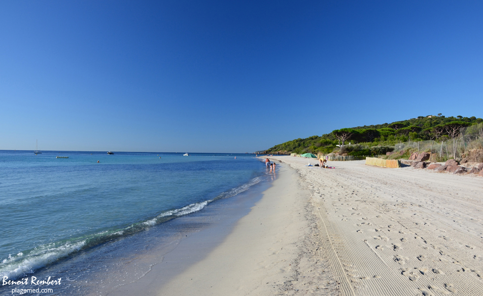 Salins beach in Saint-Tropez