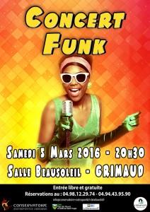 Concert funk à Grimaud