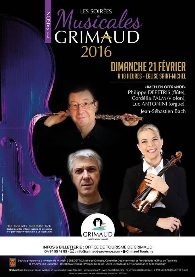 Soirées Musicales de Grimaud : février 2016
