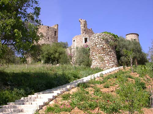 15th century castle in Grimaud overlooking the Gulf of Saint-Tropez