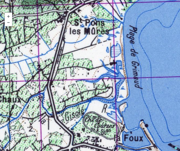 Port Grimaud, a swamp in the 1950s