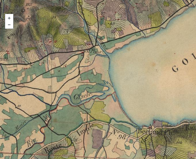 Map of Port Grimaud in the XIXth century
