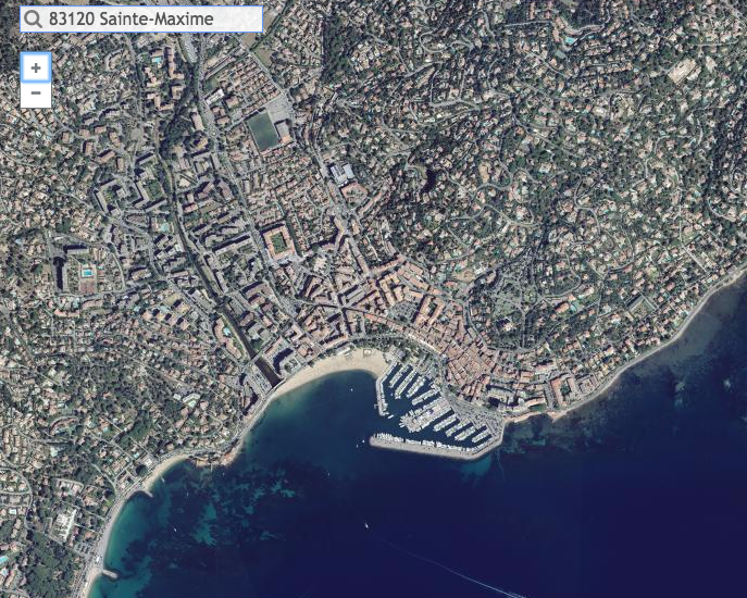 Aerial view of Sainte-Maxime in 2016