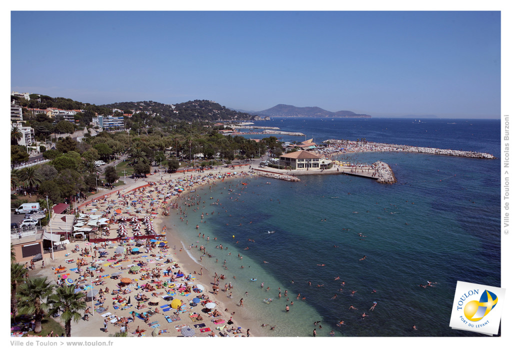 The beaches of Mourillon in Toulon