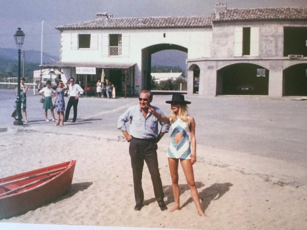 François Spoerry with Brigitte Bardot