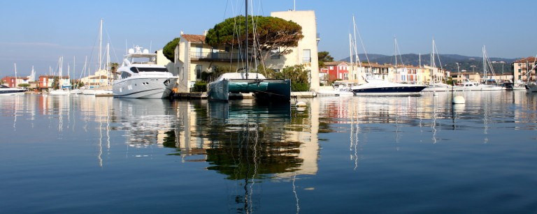 Marinas along the canals of Port Grimaud