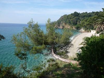 Plage du Rayol dans le Golfe de Saint-Tropez