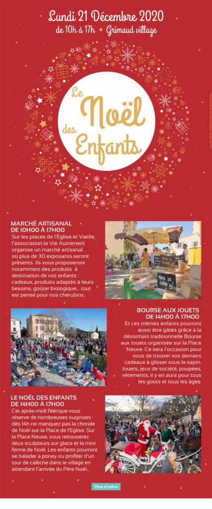 Noël des enfants à Grimaud, 21 décembre 2020